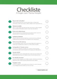 Heizpilz Checkliste